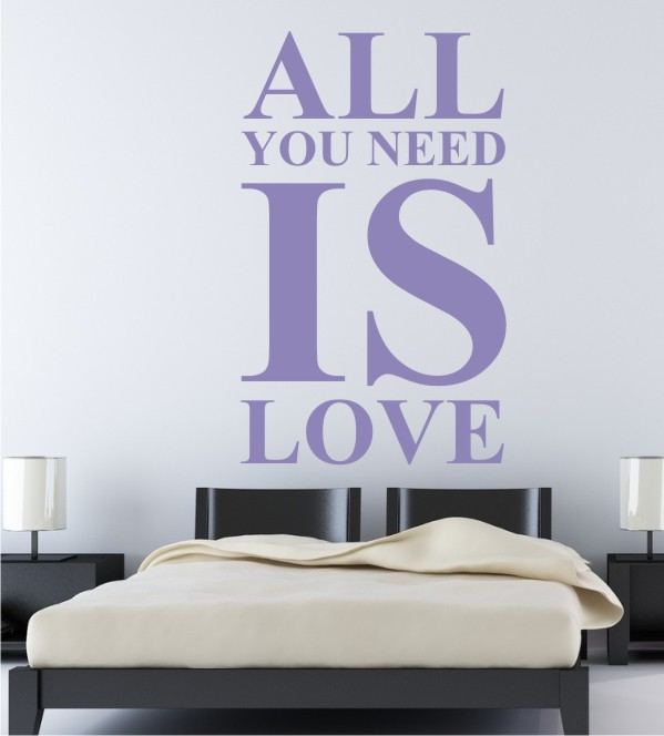 All you need is love als Wandtattoo