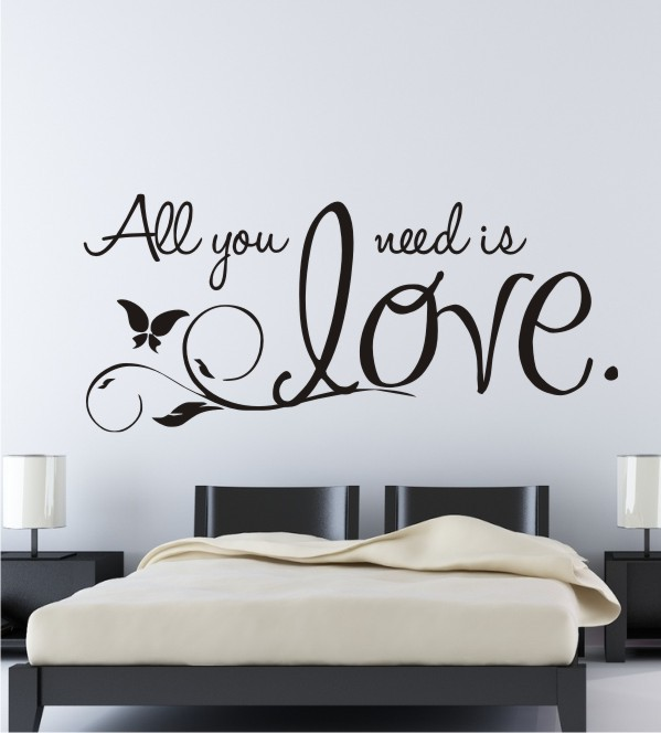 liebestattoos f r die wand spr che und zitate rund um. Black Bedroom Furniture Sets. Home Design Ideas