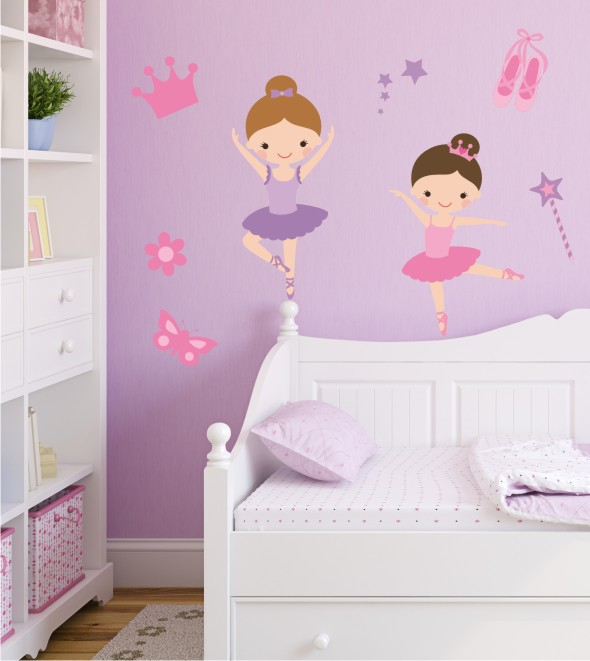 Wandsticker Ballerina Set