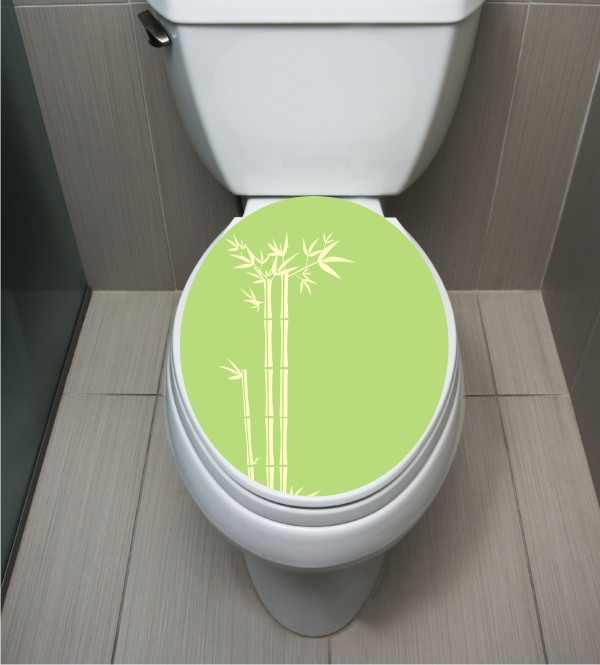 WC Sticker Bambus