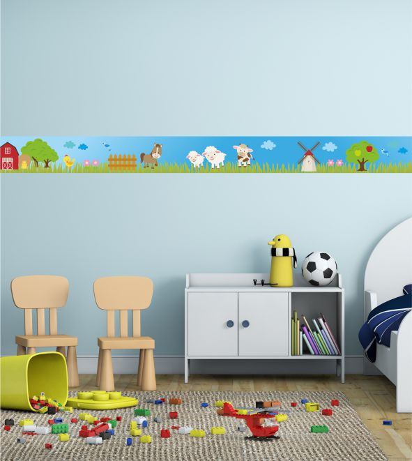 wandsticker bauernhof bord re bauernhof flair f r das kinderzimmer bunte bord ren bringen. Black Bedroom Furniture Sets. Home Design Ideas
