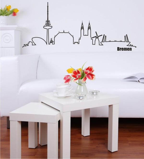schluss mit langweiliger deko die skyline von bremen. Black Bedroom Furniture Sets. Home Design Ideas