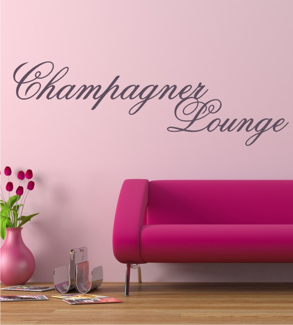 Champagner Lounge als Wandtattoo
