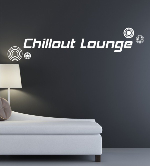 Chillout Lounge als Wandtattoo