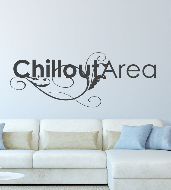 Chillout Area als Wandtattoo