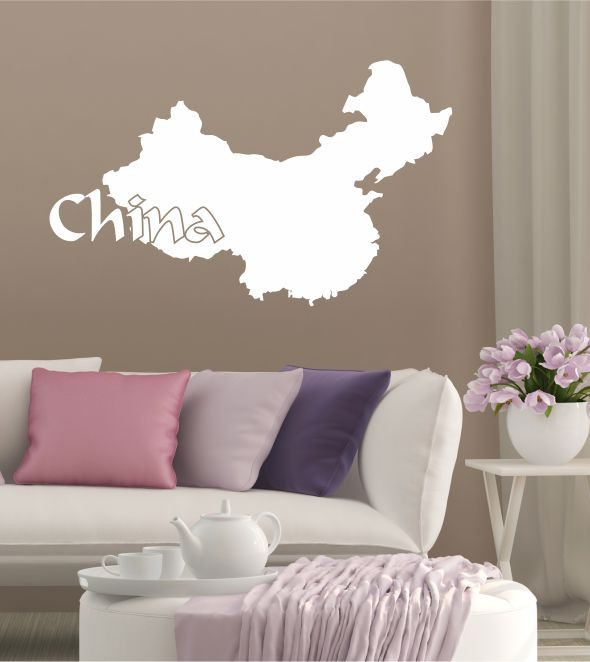 China als Wandtattoo