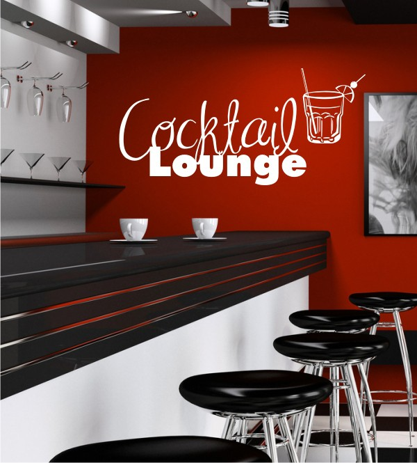 Cocktail Lounge als Wandtattoo