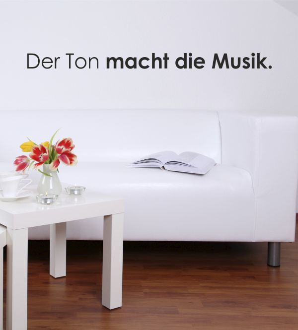 musikalische spr che als wandtattoo ideale wandgestaltung f r das wohnzimmer schlafzimmer und. Black Bedroom Furniture Sets. Home Design Ideas