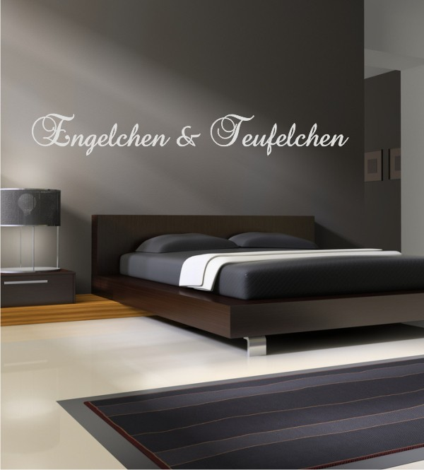 engelchen und teufelchen als wandtattoo wandtattoos f r. Black Bedroom Furniture Sets. Home Design Ideas