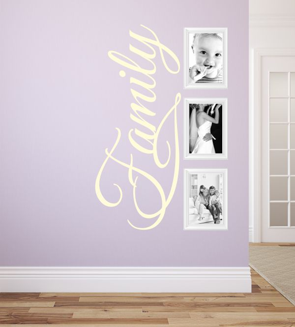 family schriftzug als wandtattoo wandtattoos f r die ganze familie sch nste erinnerungsfotos. Black Bedroom Furniture Sets. Home Design Ideas