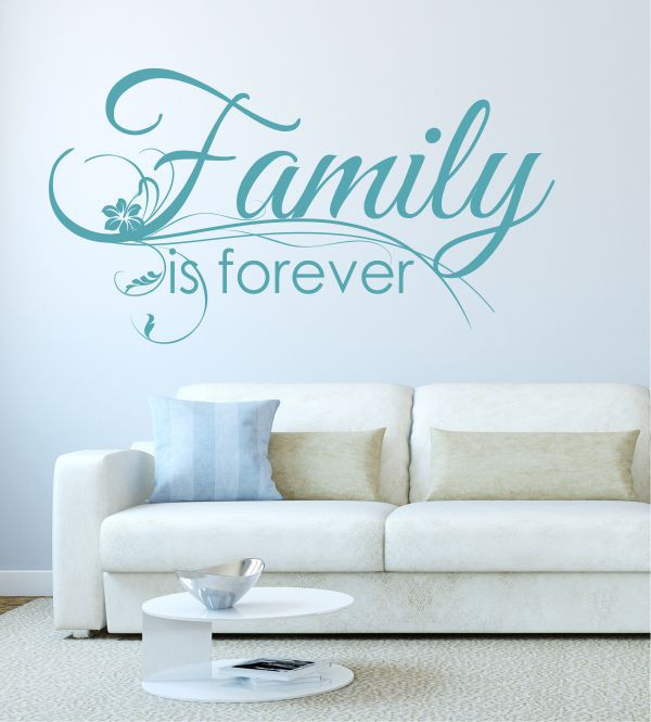 Family is forever als wandtattoo wandtattoos f r die - Wandtattoo family ...