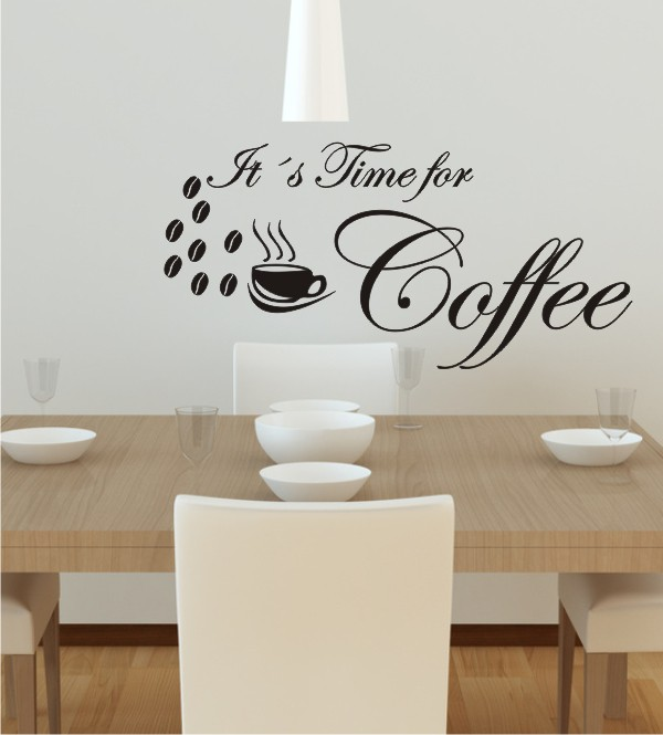 It´s Time for Coffee als Wandtattoo