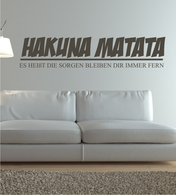 wandtattoo hakuna matata reuniecollegenoetsele. Black Bedroom Furniture Sets. Home Design Ideas