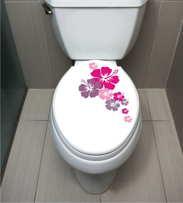 WC Sticker Hibiskus
