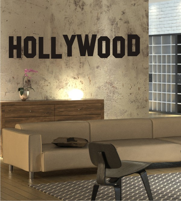 Hollywood als Wandtattoo