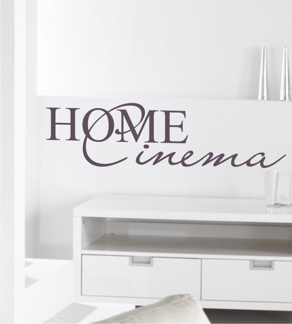 Home Cinema als Wandtattoo