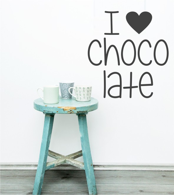 I love chocolate als Wandtattoo