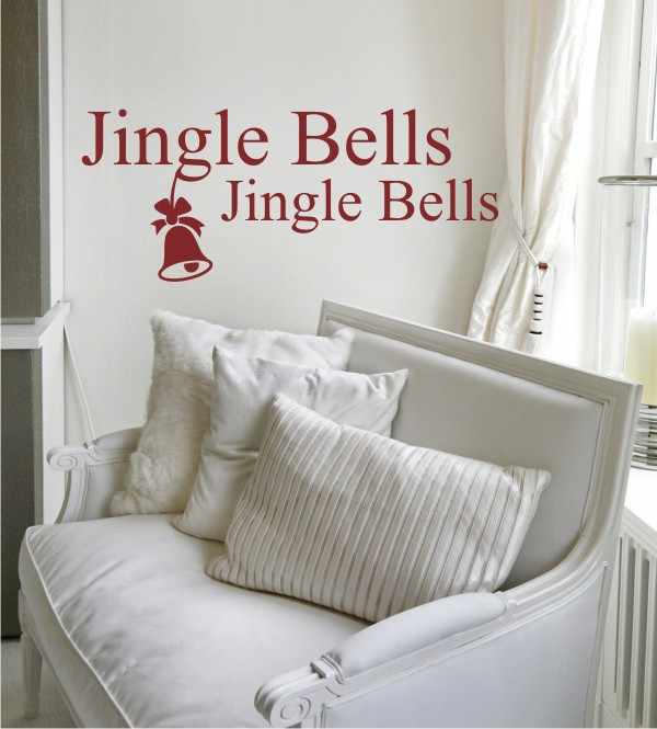 Jingle Bells als Wandtattoo