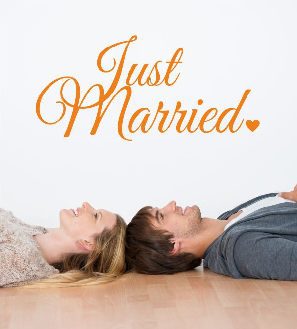 Just Married 2 als Wandtattoo