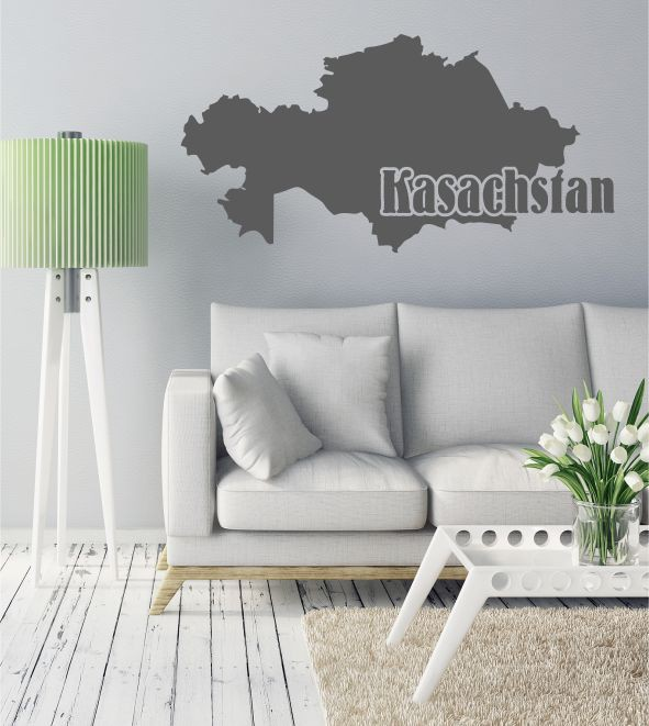 kasachstan als wandtattoo st dte l nder skylines wandsticker f r das wohnzimmer. Black Bedroom Furniture Sets. Home Design Ideas