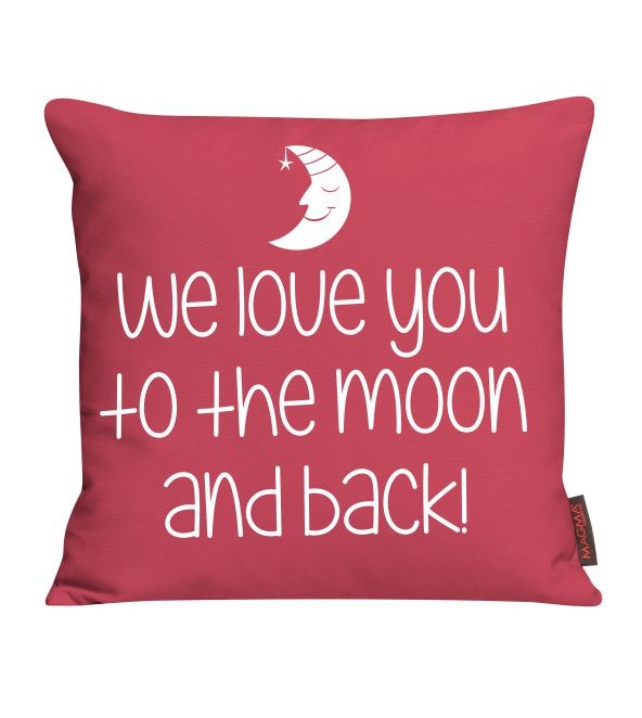 kissen we love you to the moon and back. Black Bedroom Furniture Sets. Home Design Ideas