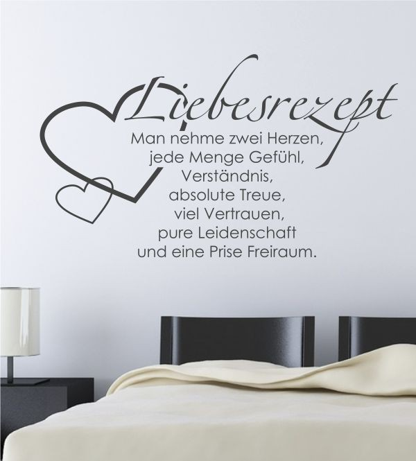 romantische wandtattoos f r dein wohnbereich herzhafte wandsticker versandkostenfrei. Black Bedroom Furniture Sets. Home Design Ideas