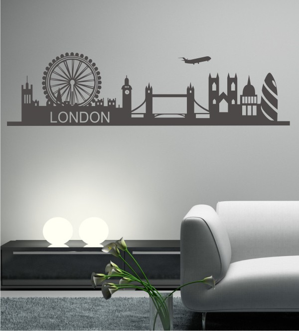 Skyline von London als Wandtattoo