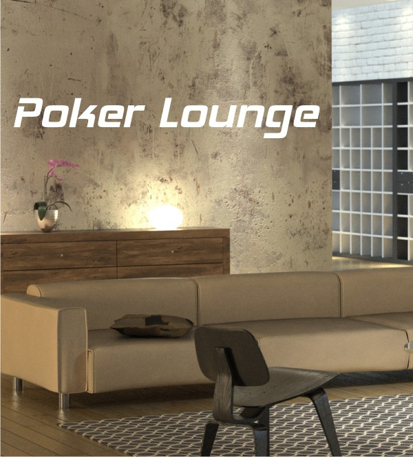 Poker Lounge als Wandtattoo