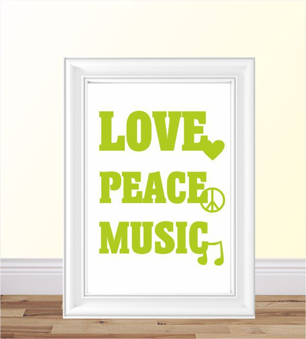 Poster love,peace..