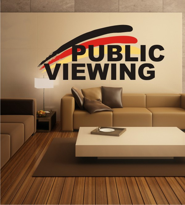 Public Viewing als Wandsticker