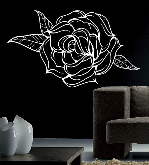 Tattoo Rose als Wandtattoo