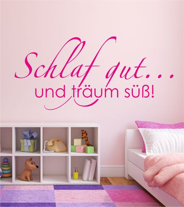schlaf gut und tr um s wandtattoo wandtattoo tr ume wandtattoo kinderzimmer. Black Bedroom Furniture Sets. Home Design Ideas