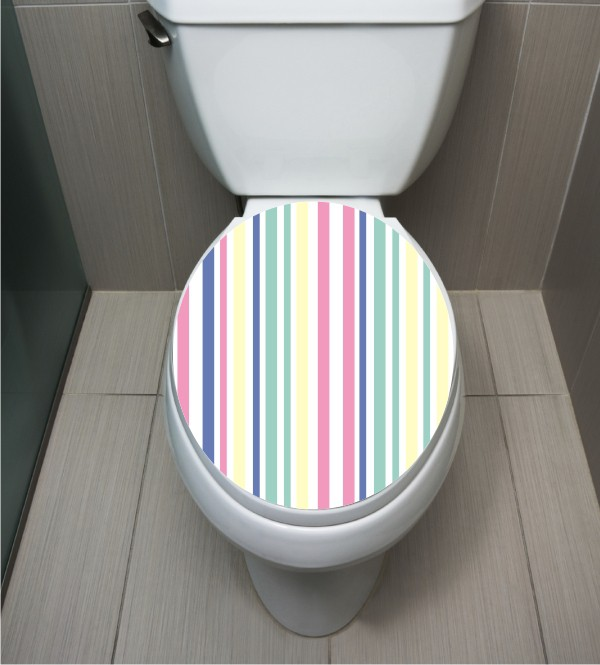 WC Sticker Stripes Pastell
