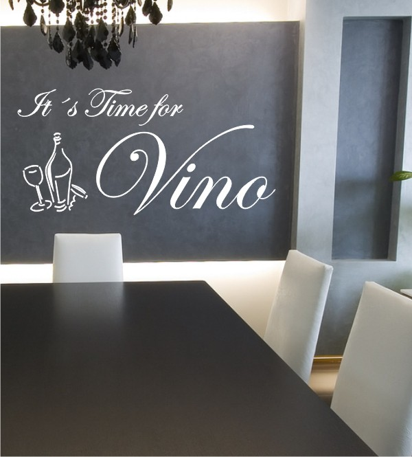 It´s Time for Vino als Wandtattoo