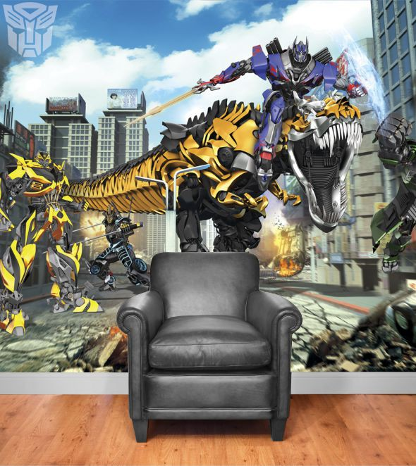 transformers fototapete besondere wandgestaltung f r das jugendzimmer. Black Bedroom Furniture Sets. Home Design Ideas