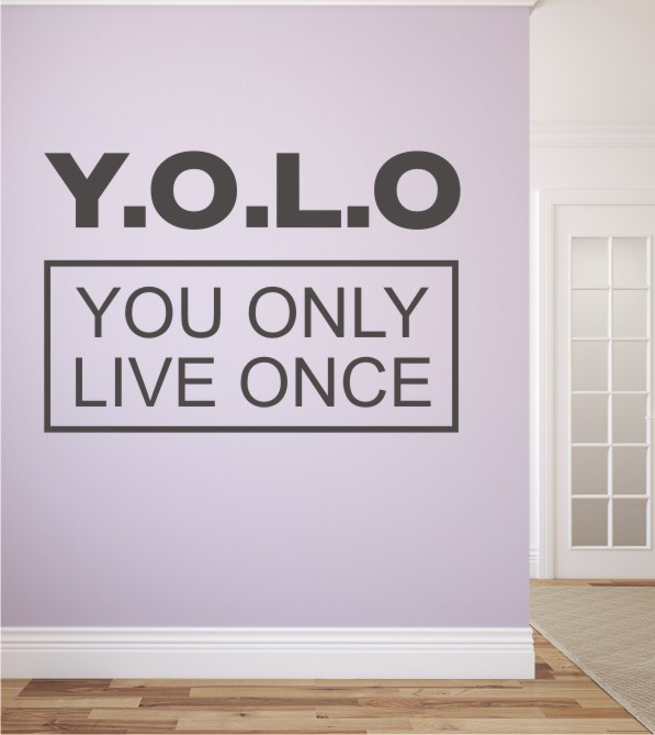 yolo als wandtattoo stylische wandtattoos f r kinder jugendzimmer findest du in unserem. Black Bedroom Furniture Sets. Home Design Ideas