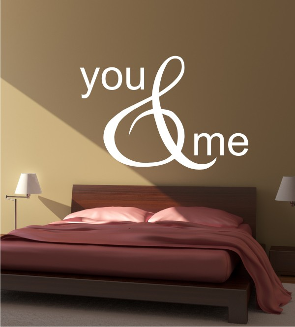 You & Me als Wandtattoo