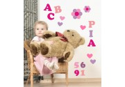 Wandsticker ABC Rosa Set