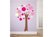 Wandsticker Set rosa Baum