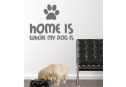 Home Dog als Wandtattoo