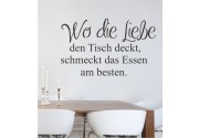 Wo die Liebe... als Wandtattoo