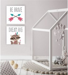 BE BRAVE-DREAM BIG... als Leinwanddruck-Set