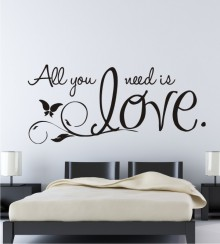 All you need is love 2 als Wandtattoo