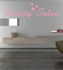 Beauty Salon als Wandtattoo