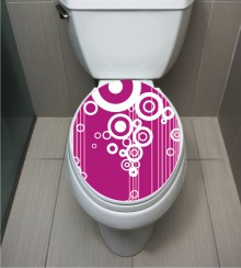 WC Sticker Circle White