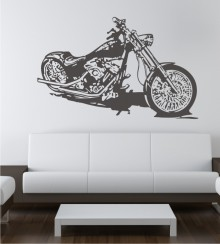 Custom Bike als Wandtattoo