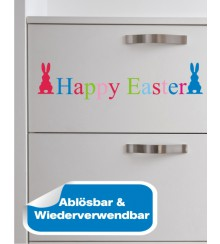 Happy Easter bunt als Möbelsticker