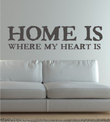 Home is where my Heart is als Wandtattoo