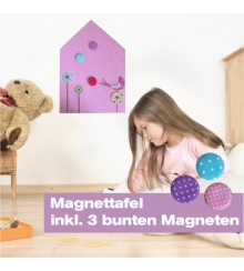 Magnettafel Pink House
