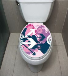 WC Sticker Modern Pink